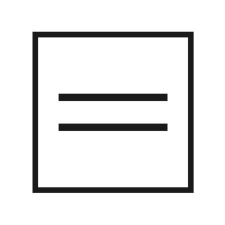 Equal Icon, Flat Illustration Of Equal, Equal Sign Symbol – Vector Vectores