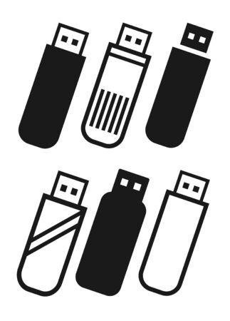 Pen Drive Icon Sign Vector Illustration – Vector