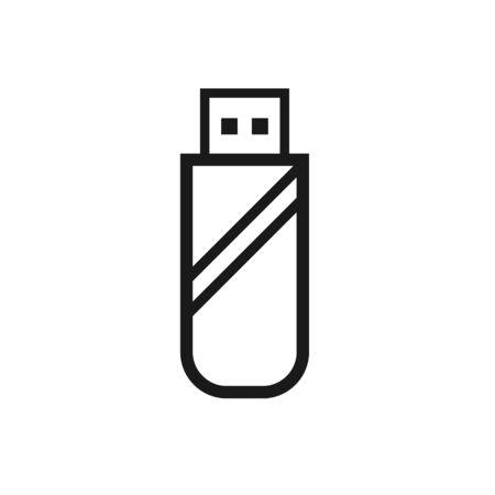 Flat Pen Drive Icon Sign Vector Illustration – Vector Vectores