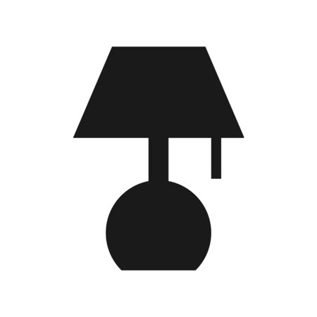 Flat Lamp Icon Sign Vector Illustration – Vector Stock Illustratie