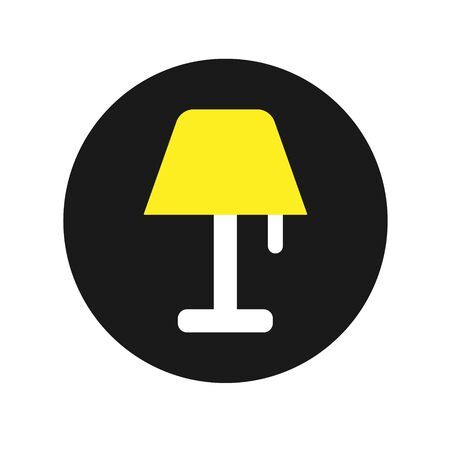 Lamp Icon Vector Sign In White Background – Vector