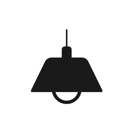Lamp Icon Vector Illustration. Flat Lamp Icon Sign Illustration