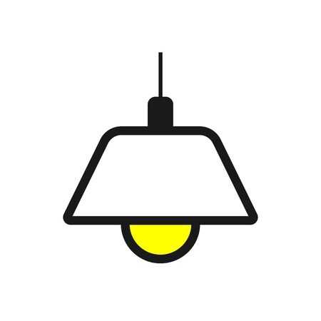 Lamp Icon Vector Illustration. Flat Lamp Icon Illustration