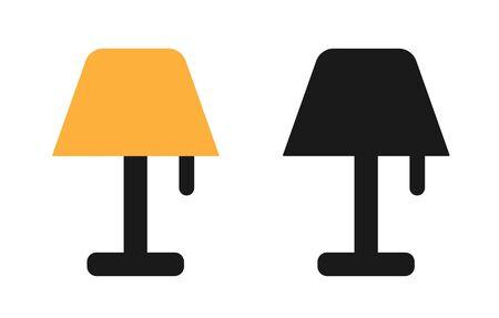 Lamp Icon Set. Lamp Sign Symbol Vector Illustration
