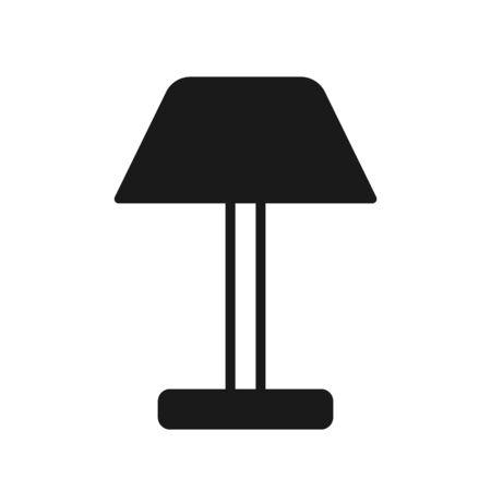 Flat Lamp Icon Symbol Illustration Design – Vector Illustration
