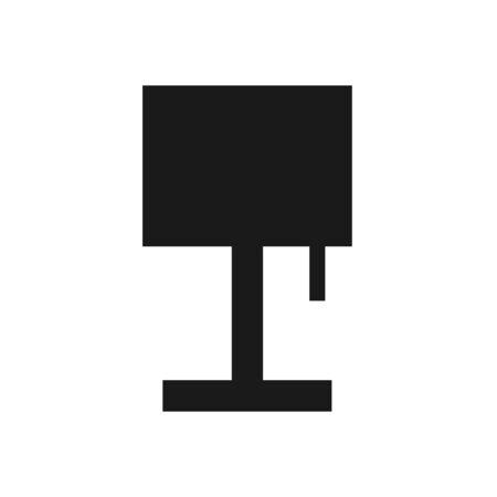 Flat Lamp Icon Sign Vector Illustration – Vector Illustration