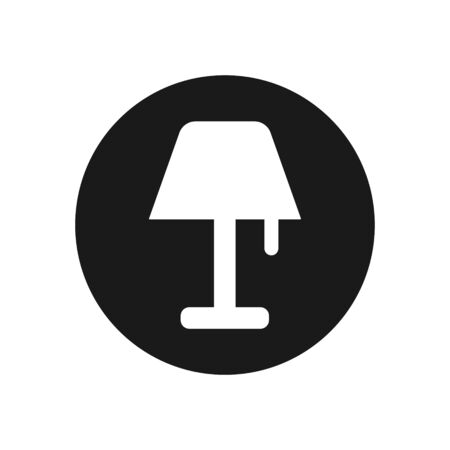 Lamp Icon Vector Sign In White Background