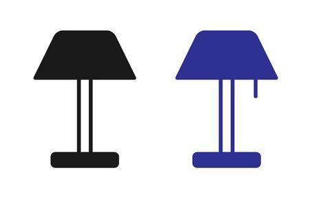 Lamp Icon Set Vector Illustration. Flat Lamp Icon