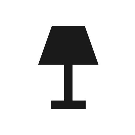 Lamp Icon Vector Illustration. Flat Lamp Icon – Vector