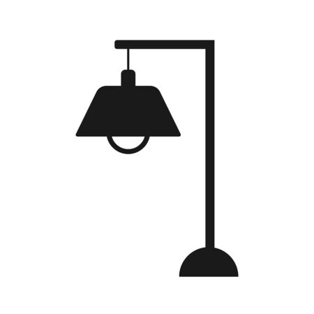 Lamp Icon Vector Illustration. Flat Lamp Icon Sign. Standing lampshade icon – Vector
