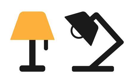Lamp Icon Set Vector Illustration. Flat Lamp Icon – Vector Illustration