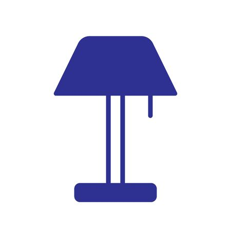 Lamp Icon Vector Illustration. Flat Lamp Icon Illustration