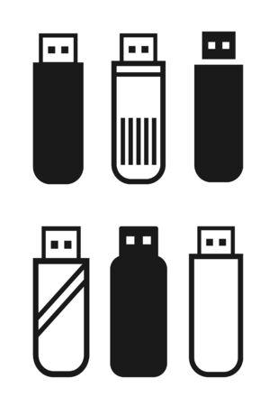 Pen Drive Icon Vector Illustration. Flat Flash Drive Icon Sign