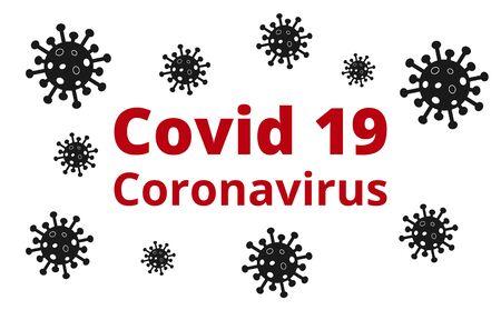 Covid 19 Coronavirus Banner Poster. Covid 19 Coronavirus - Vector