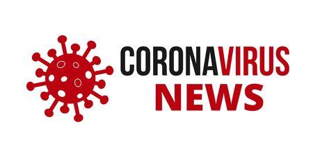 Covid 19 News Banner Poster. Novel Coronavirus Covid 19 NCoV - Vector Vektorgrafik