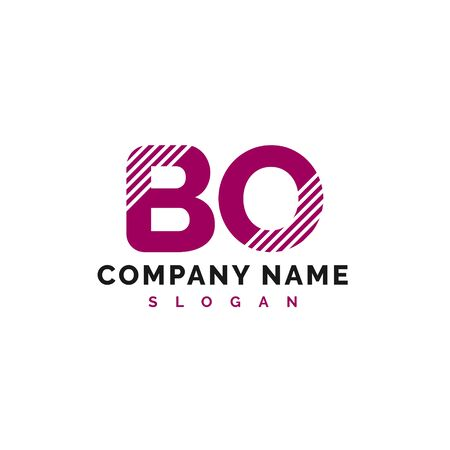 BO Logo Design. BO Letter Logo Icon Vector Illustration - Vector