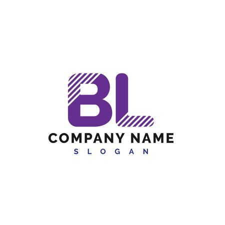 BL Logo Design. BL Letter Logo Icon Vector Illustration - Vector