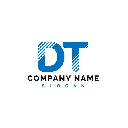 DT Letter Logo Design. DT letter logo Vector Illustration - Vector
