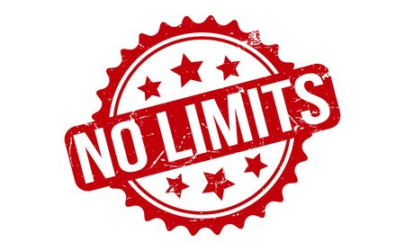 No Limits Rubber Stamp. Red No Limits Rubber Grunge Stamp Seal Vector Illustration - Vector