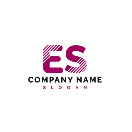 ES Letter Logo Design. ES letter logo Vector Illustration - Vector Stock Illustratie