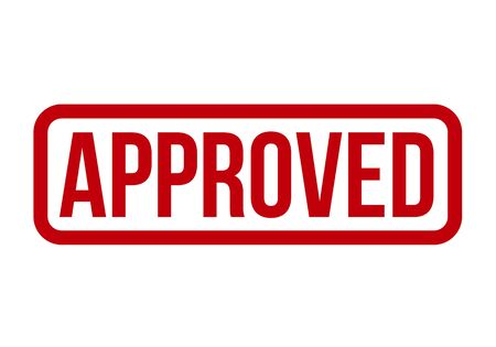 Approved Rubber Stamp. Approved Stamp Seal – Vector Stock Illustratie