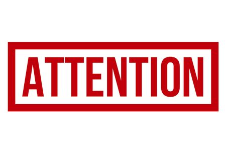 Attention Rubber Stamp On White Background