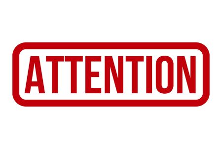 Attention Rubber Stamp. Attention Stamp Seal – Vector