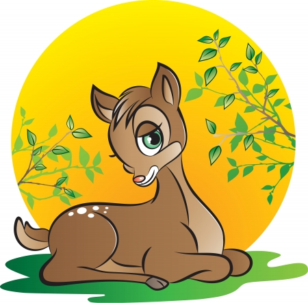 illustration of young deer