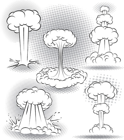 illustration of different kinds of explosion bubbles