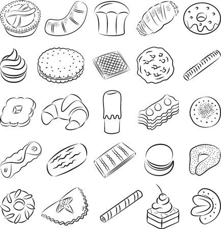 bułka maślana: Kolekcja plików cookie w linii sztuki