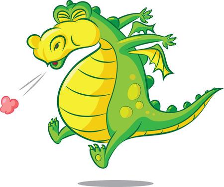 illustratie van een niezen draak