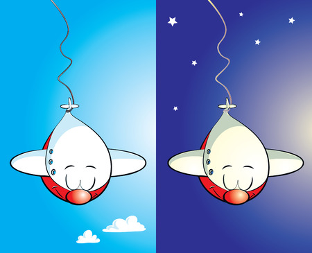 illustratin: Vector illustratin of Bungee jumper jumbo jet mascot Illustration