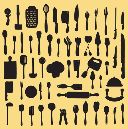 wire pin: Vector illustration of cooking utensil set Illustration