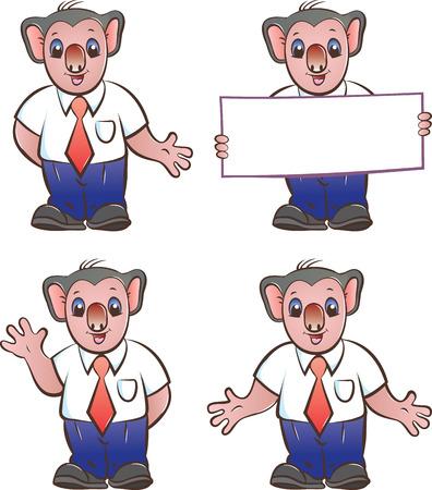 illustratin: Vector illustratin of koala mascot in various poses Illustration