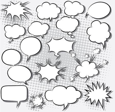 ilustración vectorial de burbujas cómicas del discurso Vectores