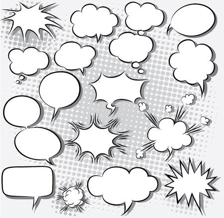 message bubble: vector illustration of comic speech bubbles