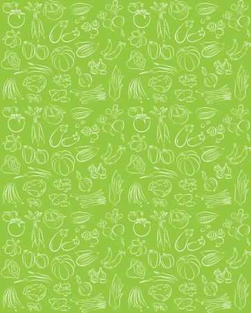 Vector patroon van naadloze achtergrond met groenten Stockfoto - 26610476