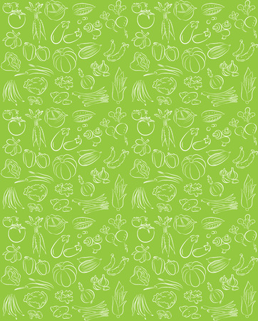 vector pattern of seamless background with vegetables Иллюстрация