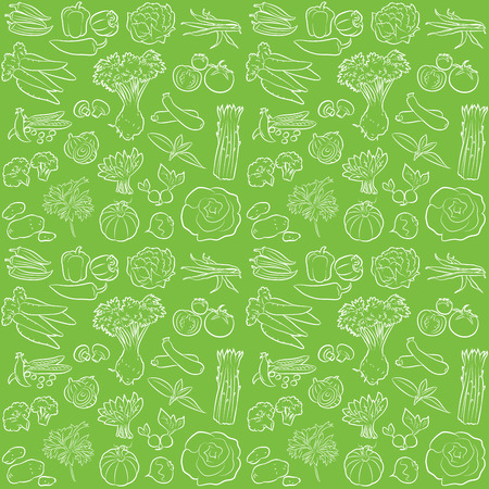 vector pattern of seamless background with vegetables Ilustração