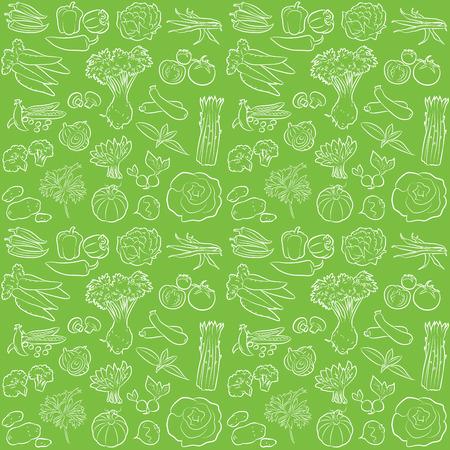 Vektor-Muster der nahtlosen Hintergrund mit Gemüse Standard-Bild - 26610455