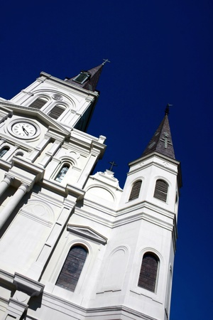 louis: St Louis Cathedral in New Orleans Lousiana Stock Photo