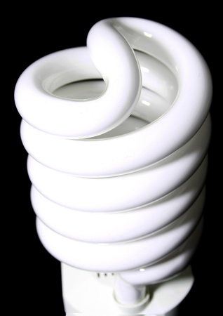 cfl: A close up of a CFL bulb