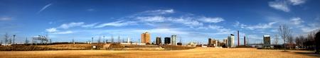 alabama: Birmingham Alabama panorama. Skyline as seen from Railroad Park