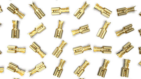 Brass electrical wire connector. Template, mockup. Standard-Bild