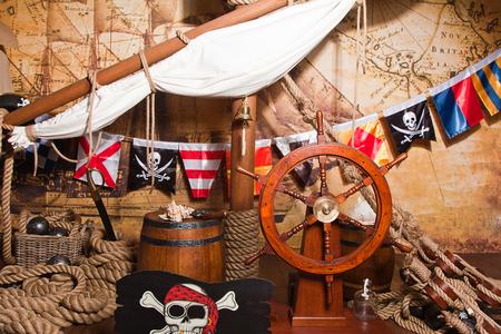 pirata: barco pirata  Foto de archivo