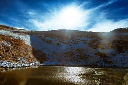 ice age: Lake ice age Nesamovyte in the Carpathian Mountains