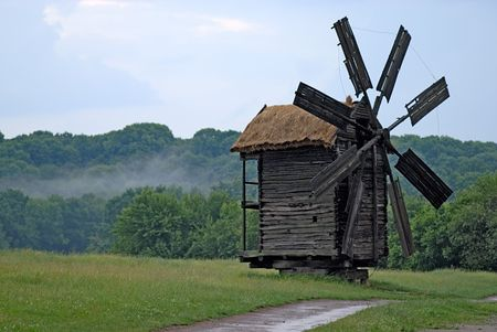 Old Wood Windmill Stock Photo - 2225004