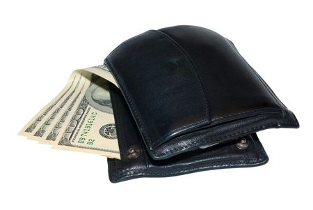 Wallet with money isolated Stock Photo - 2422914