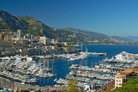 monte: Marina of Monte Carlo in Monaco