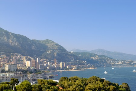 Panoramic view of Monte Carlo. Monaco photo
